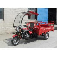 Professional Front Roof Cargo Motor Tricycle , Gasoline Tricycle Optional Color