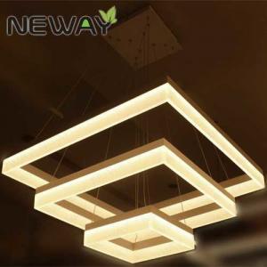 Buy cheap Square Acrylic Modern LED Pendant Lamps Luminarie 800x800 600x600 315x315mm Suspension Drop Lamp White LED Light Fixture product