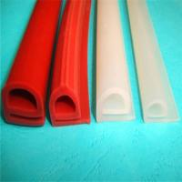 Buy cheap Durable Silicone Extruded Profiles Electrically Insulating With Dielectric Strength 500 V/Mil product