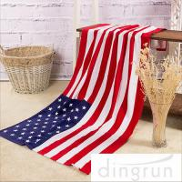Buy cheap American Flags Artwork Custom Printed Beach Towels Eco Friendly Pure Cotton product