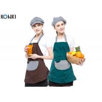 Buy cheap Contrast Color Custom Embroidered Aprons Working Cooking For Coffee Shop product