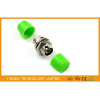 China Zinc Alloy FC Fiber Optic Adapter FC / APC Copper Coupler Green on sale