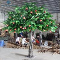 China Small Decorative Indoor Artificial Apple Trees For Public Area OEM on sale