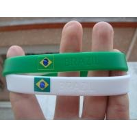 Buy cheap Country Flag Friendship silicone Bracelet Wristband for Football Team Soccer Fans product
