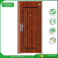 Buy cheap front steel doors, iron gate main wood carving design steel security door product