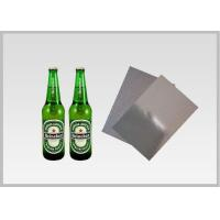 Buy cheap Washable Silver Metallic Paper With Laser Holographic  Wood Pulp Material Beer Bottle Label in 70gsm product