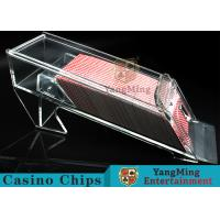 Buy cheap 1.2kg Transparent Acrylic Casino Card Shoe With Excellent Light Transmission product
