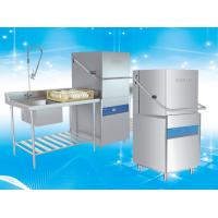 Buy cheap LED Display Hood Type Dishwasher Electric Heating Patte 82 - 95℃ Rinse product