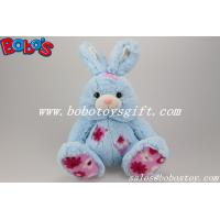 "Buy cheap 9.5"" Cuddle Blue Rabbit Stuffed Toy With Flower Fabric Patch product"