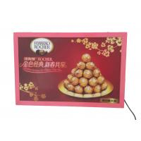 Buy cheap A2 Thin Flat Snap Frame Led Light Box Pink Color Backlit For Hotel Advertiising product
