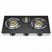 Buy cheap Table Stove, 3 burners deluxe glass stove product