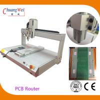China White PCB Depaneling PCB Router Machine with 500mm/s Cutting Speed wholesale