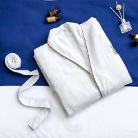 Buy cheap Cotton Microfiber Spa Quality Bathrobes , Hotel Collection Spa Robe Double Layer from wholesalers