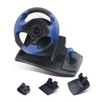 Buy cheap Double Vibration Feedback Driving Game Steering Wheel Compatible Window 98 / Me from wholesalers