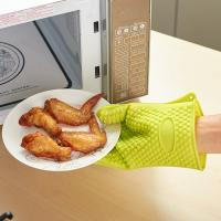 Buy cheap high quality traditional long silicone oven heat gloves hot mitts product