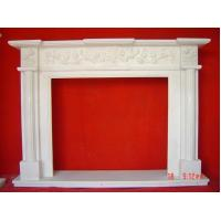 Buy cheap natural stone carved simple fireplace mantel product