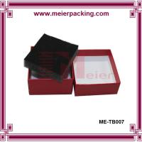 China Rigid paper cosmetic box, red cardboard paper box with sponge insert ME-TB007 on sale