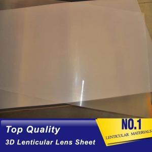 Buy cheap UV machine Print 3d Lens 100 LPI Resin PET Lens Plastic Flip 3D Lenticular Sheet 0.35mm 0.6mm lenticular films plastic product