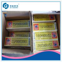 Buy cheap Custom Barcode Non-transfer Security Tamper Proof Labels For Shipping product