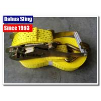 Buy cheap Wire Hooks 50mm Ratchet Tie Down Straps With Heavy Working Load Rainproof product