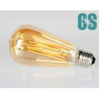 China ST64 8W Vintage Dimmable Golden Glass Amber Glass LED filament Lamp E26 / E27 Warm White wholesale