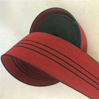 Buy cheap 50mm High Tenacity Outdoor Furniture Webbing Red With 3 Black Lines product