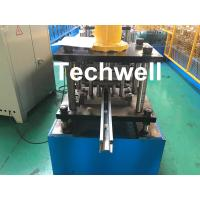 Buy cheap PPGI , Galvanized Steel Guide Rail Roll Forming Machine With Disk Saw Cutting For Making Shutter Door Slats product