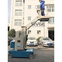 Buy cheap 7.5m Elevated Work Platforms , Mast Type 3m Trailer Mounted Boom Lift product