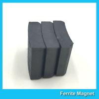 Arc Shaped Permanent Ferrite Magnet For Ceiling Fan Motor SGS Certification for sale