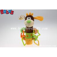 Buy cheap Colorful Plush Funny Dog Infant Toy Baby Stick Educational Toys With Plactic Accessory product