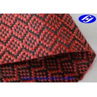 Buy cheap High Tensile Red Carbon Fiber Kevlar Fabric With Jacquard Sudoku Pattern product