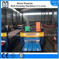 Buy cheap Steel Roof Double Layer Roll Forming Machine 1000mm Raw Material Width product