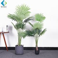 Buy cheap Fan Shaped Leaves Artificial Bonsai Tree , Artificial Palm Trees For Shop Window Display product