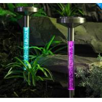 Buy cheap Multicolor Solar sparkling bubble Tube light for garden lawn decoration product