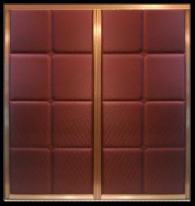 Buy cheap Aluminum Frame Leather Upholstered Doors For Wardrobe, Decorative Closet Sliding Door product