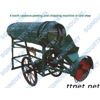 Buy cheap Cassava Peeling And Chipping Machine, Tapioca Peeling And Chipping Machine product