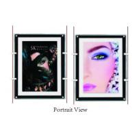 Buy cheap Shop Window Ultra Slim Acylic Crystal LED Light Box For Portrait View Wall Mounted product
