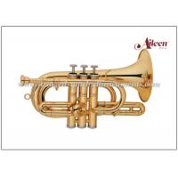 Buy cheap Lacquered Brass Spainish style China Brass Cornet ( CN8713G) Brass Music from wholesalers