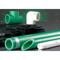 China Green PPR Water Pipe and Fittings Pipe Ppr Plastic Tube for Cold / Hot Water on sale