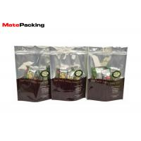 Buy cheap Food Grade Zipper Clear Food Pouches , Clear Plastic Stand Up Pouches For Candy product