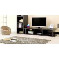 Buy cheap Moisture Resistant Dark Wood TV Stands For Flat Screens Melamine Paper Faced product