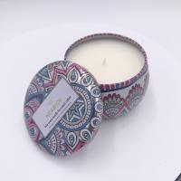 Buy cheap Decorative candle tin wholesale travel tin scented candles with printing for home decor product