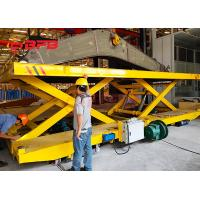 Buy cheap Crane Work Hydraulic Lifting Transfer Cart With Large Table Electric Power product