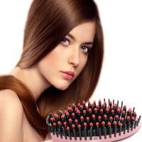 China Hair Straightener Comb with LCD Display Electric Brush Hair Brush Hair Care Hair Straightening Styling Tools wholesale