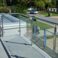 Buy cheap Exterior Stainless Steel Frameless Glass Frosted Deck Railing / Glass Deck Post product