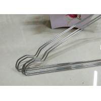 Beautiful Plastic Coated Wire Hangers , White Metal Coat Hangers For Laundry Room
