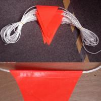 China Durable Bright Orange Safety Bunting Flag With Double Stiching wholesale