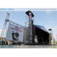 Buy cheap Slim Thickness Outdoor Led Display Board Curved Background 50000 Nits Brightness product