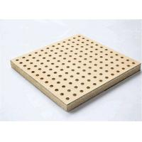 China Fireproof Perforated Wood Acoustic Panels For Studio Room MDF Melamine Surface on sale
