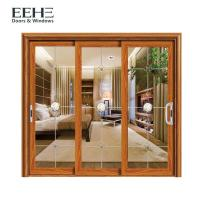 Space Saving Aluminum Frame Sliding Glass Doors For Residential Color Optional